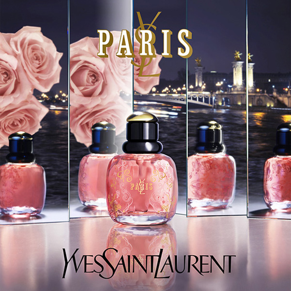 Campagne parfums Yves Saint Laurent. L'hiver à Paris.