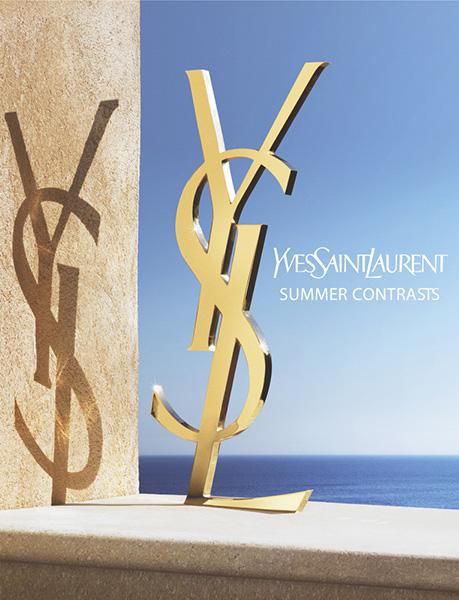 création d'une campagne parfums d'été, où soleil, eau et lumière jouent ensemble. YSL personnifié